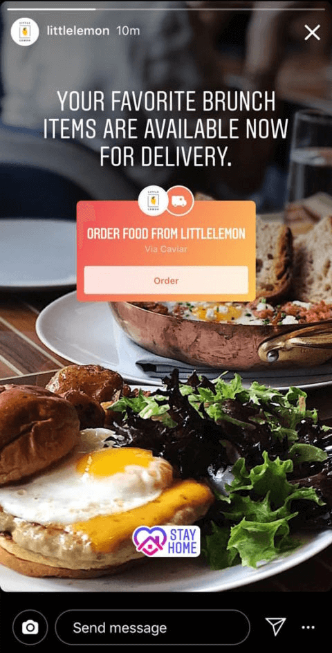 Order food feature
